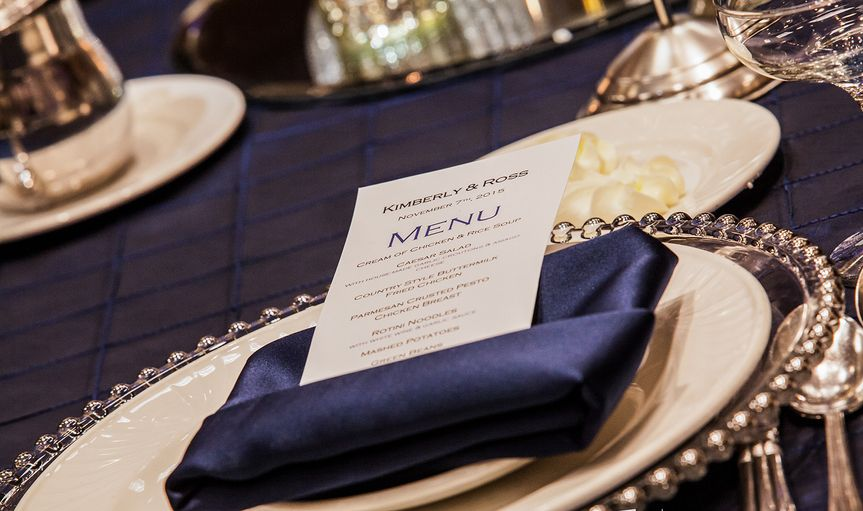 Modern tablescape with the menu
