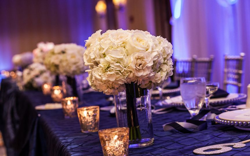 Gorgeous white flower centerpiece