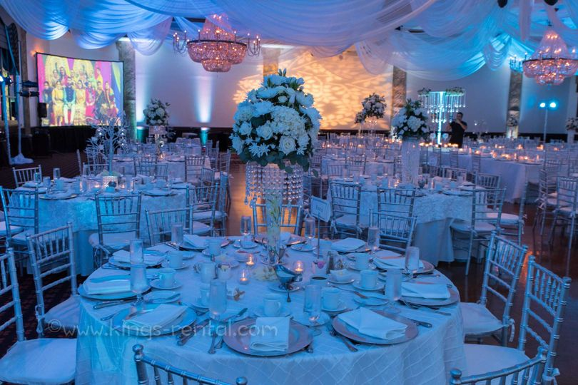 Big Projection Screen rental, Ambience lighting, and effects for Wedding, Sweet sixteen and Birthday...