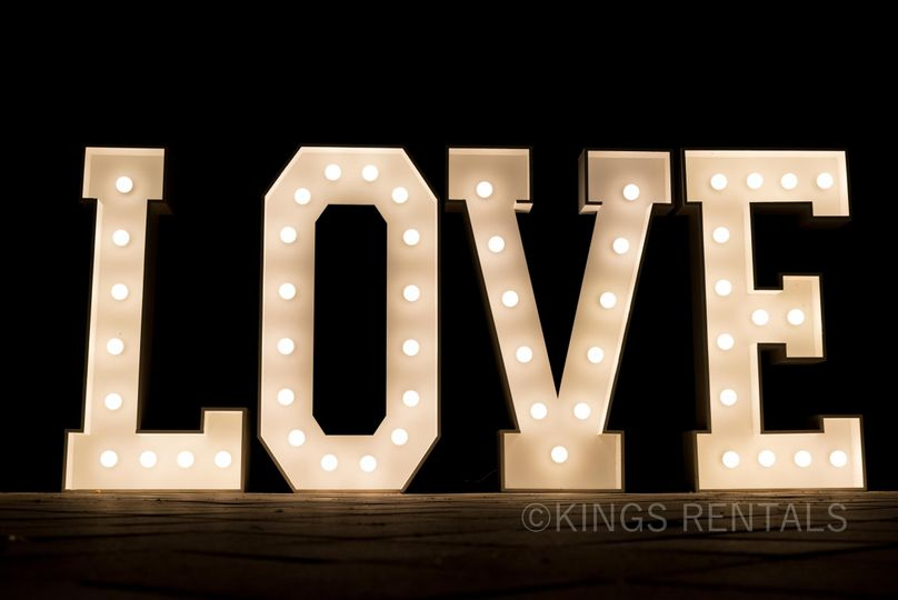 Marquee LOVE Sign rental.