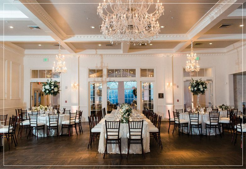 Long table and round tables