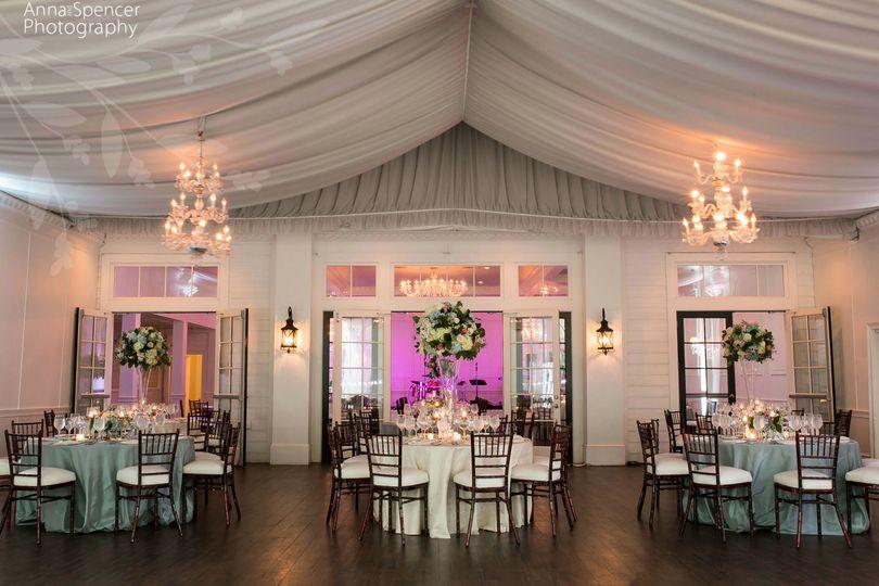 Raised floral table centerpieces
