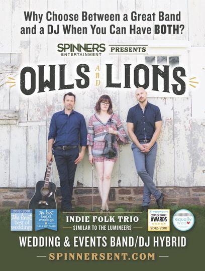 Band/DJ Hybrid Owls & Lions