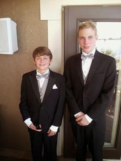 Boys at the wedding