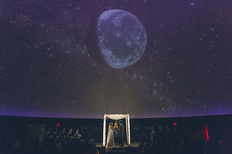 Wedding at Fels Planetarium,