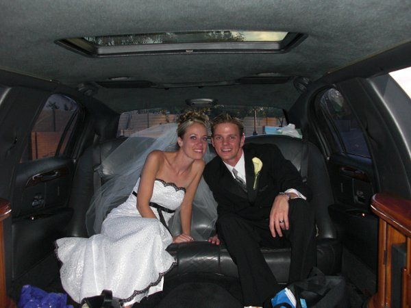 My sister and her husband in the limo I rented for them.