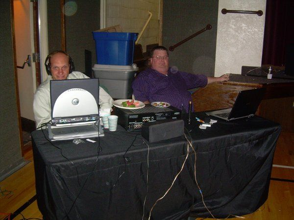 We DJ too.  This was at a wedding.