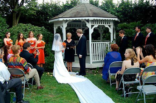 Sweeping view of the outdoor ceremony.