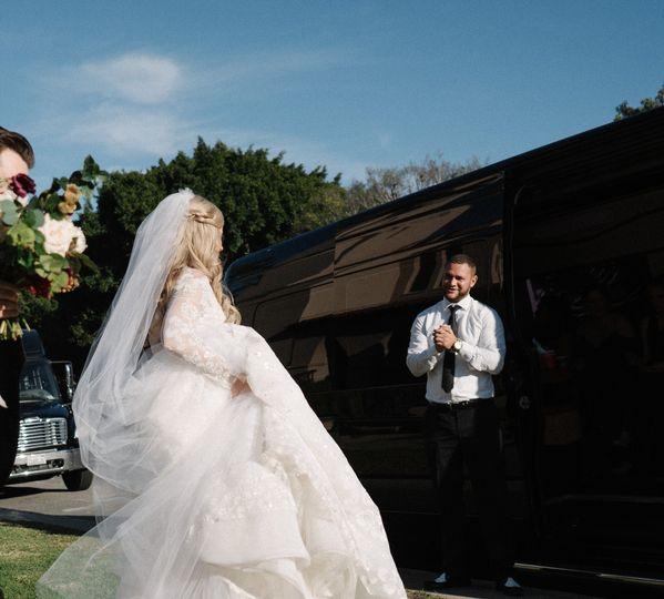 Party bus wedding swoop