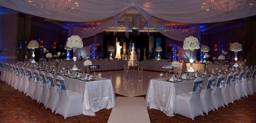 Reception hall design