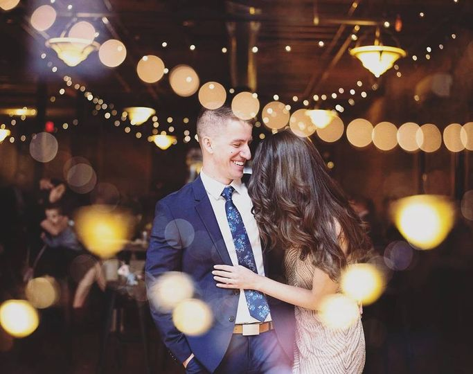 Under twinkling lights (Chelsea Reeck Photography)