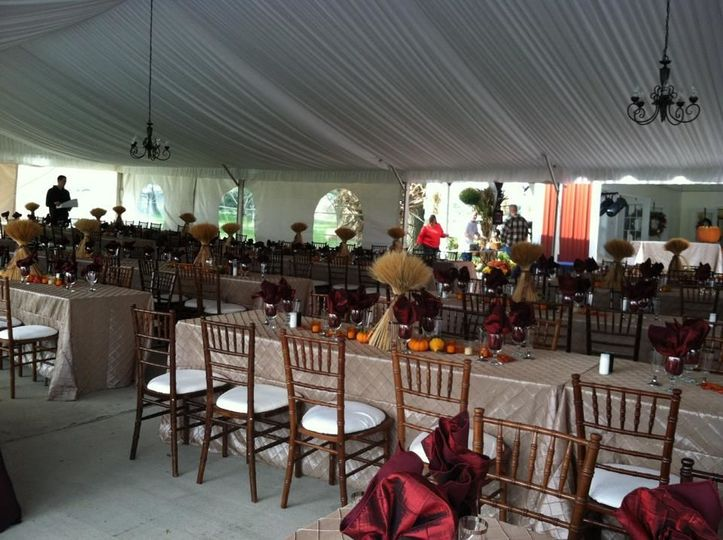 Fruitwood Chivari Chairs Tent Liner Linens