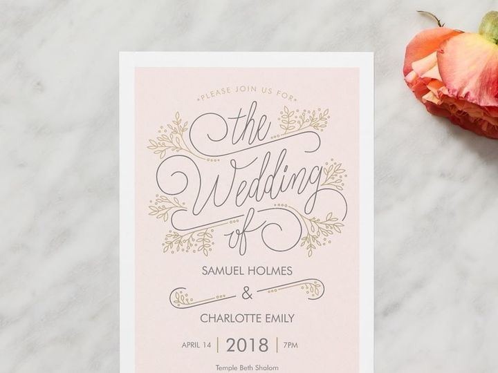 Tmx 1535847931 9ce8bb76c54201ca 1535847930 Cc1f4a0411504f7b 1535847928215 4 Wedding Set 8 Raleigh, NC wedding invitation