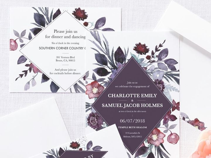 Tmx Wedding Set 4 51 1015108 158586750955411 Raleigh, NC wedding invitation