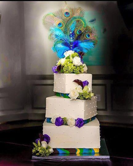 square, white, purple, multi-colored ribbon, flowers