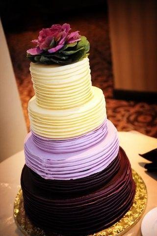 round, purple, lavender and white ombre
