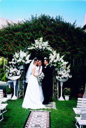 Garden Courtyard wedding oriented West