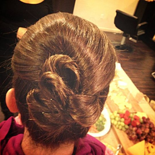 Pretty up-do for a bridesmaid.