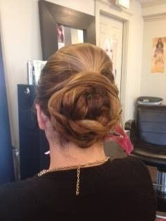 Pretty braided up-do for a bridesmaid.