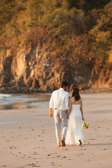 beach wedding at Hotel Sugar Beach, Guanacaste, Costa Rica