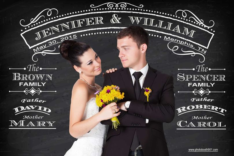 wedding chalkboard sample 2