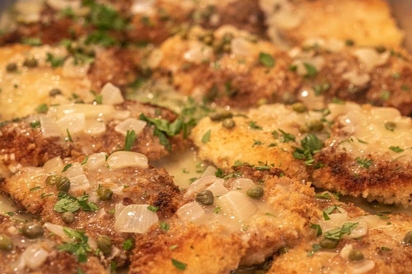 Panko Crusted Chicken Piccata