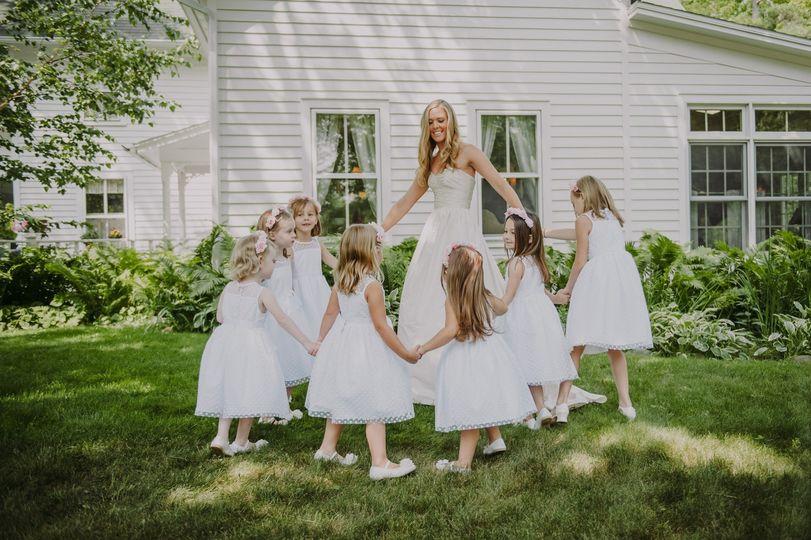 Bride and flower girls.