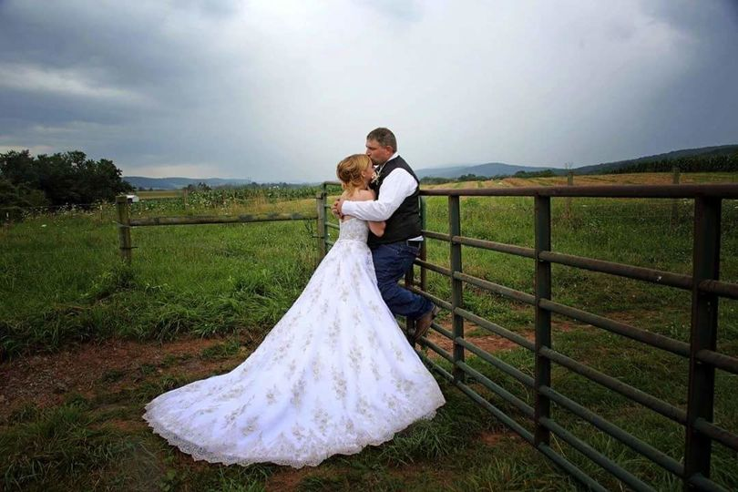 In the field | Gown: Maggie Sottero