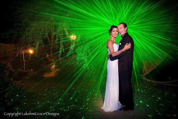Weddings in the garden. Beautiful lighting.