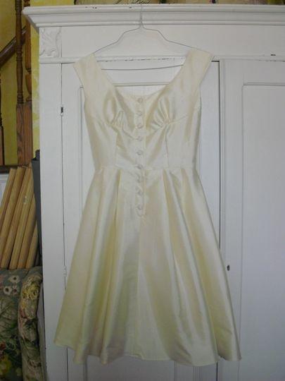 """Custom made """"vintage inspired"""" silk dress for rehearsal dinner"""