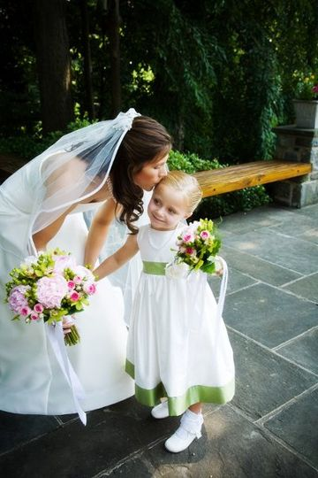 Bride and Flower Girl - Can't you see the love?