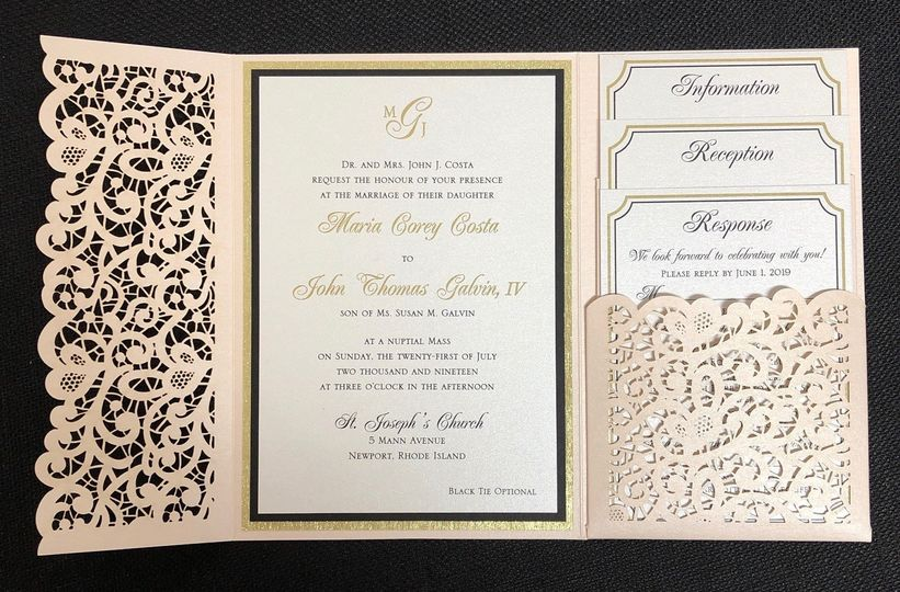Laser cut pocket invitation