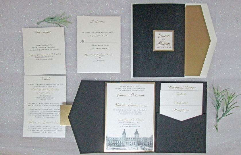 Pocket Invite w/ Foil Printing