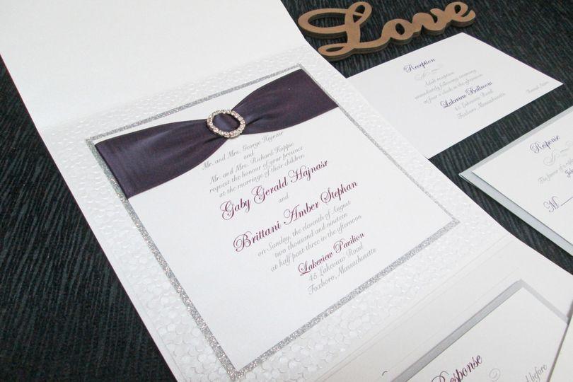 Pocket Invitation with Ribbon