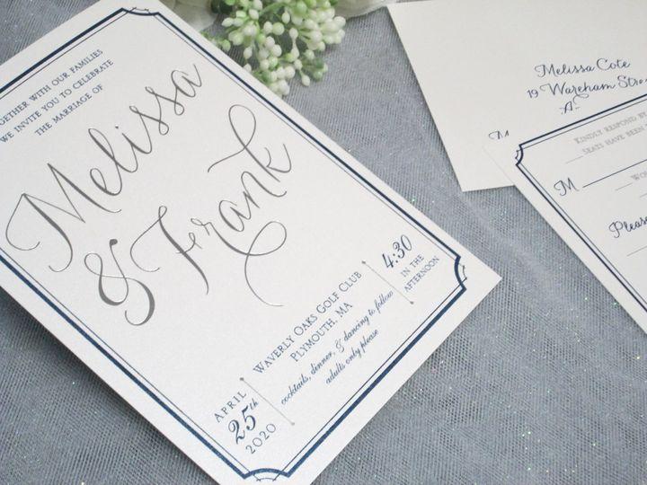 Silver Foil Printing on Invite
