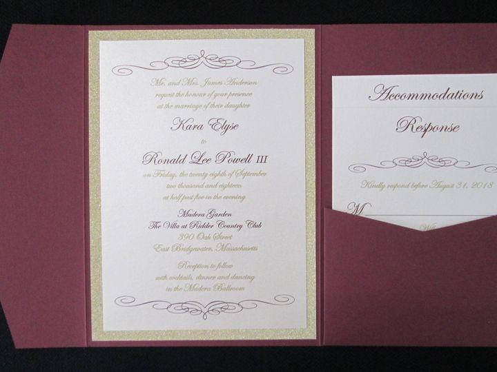 Tmx Anderson Pocket 9 29 18 51 108208 Quincy, MA wedding invitation