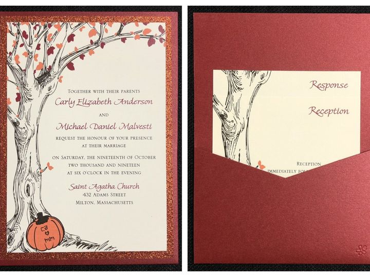 Tmx Anderson Pocket Card 10 19 19 51 108208 1572547126 Quincy, MA wedding invitation