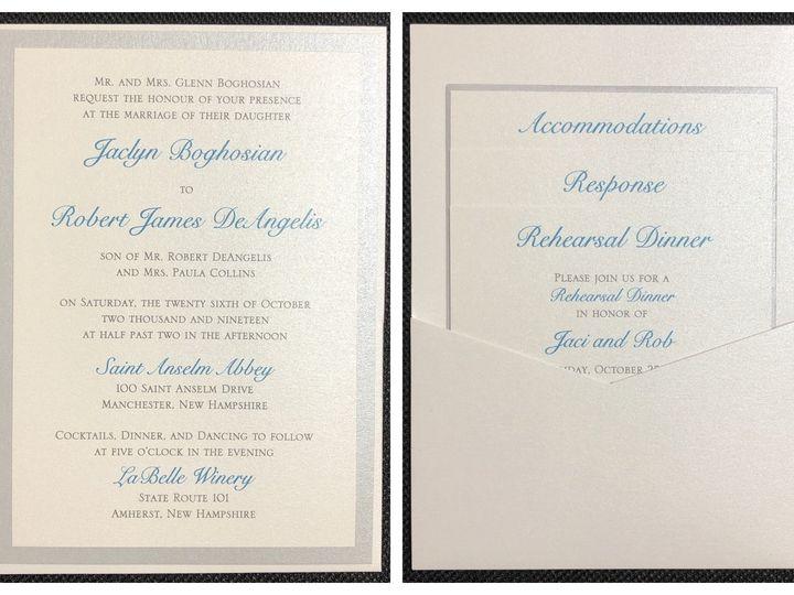 Tmx Boghosian Pocket Card 10 26 19 51 108208 1572547126 Quincy, MA wedding invitation