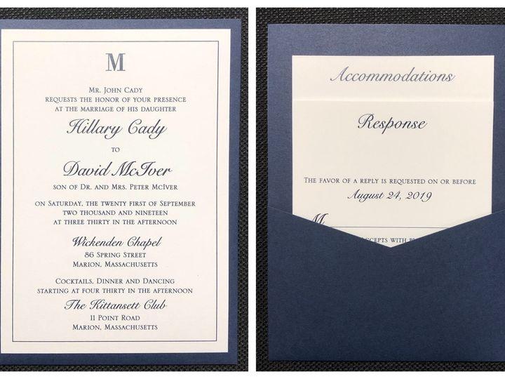 Tmx Cady Pocket Card 9 21 19 51 108208 1572547125 Quincy, MA wedding invitation
