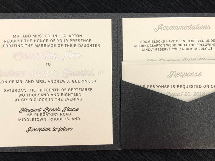 Tmx Clapton Pocket 9 15 18 51 108208 Quincy, MA wedding invitation