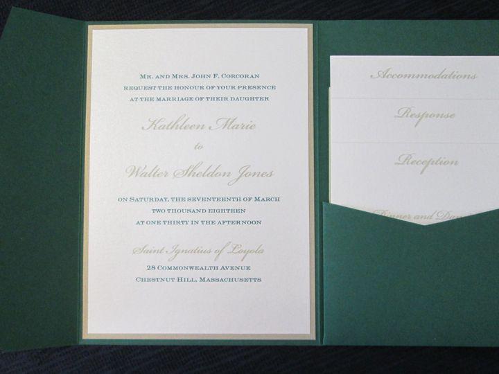 Tmx Corcoran Pocket 3 17 18 51 108208 Quincy, MA wedding invitation