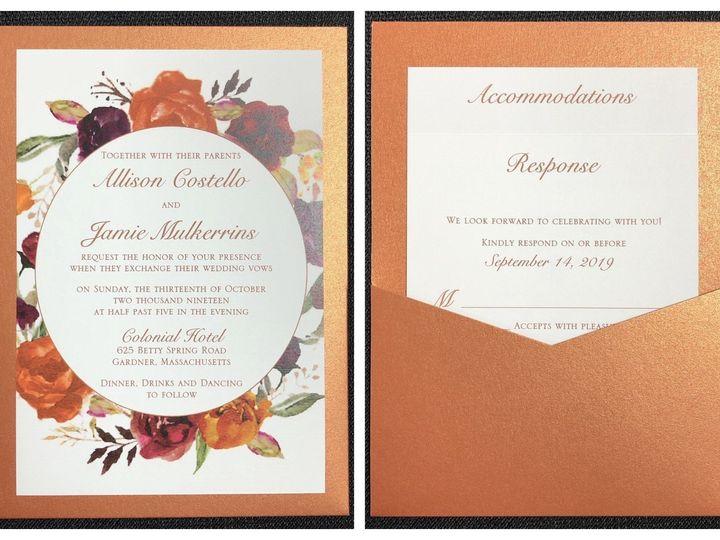 Tmx Costello Pocket Card 10 13 19 51 108208 1572546881 Quincy, MA wedding invitation