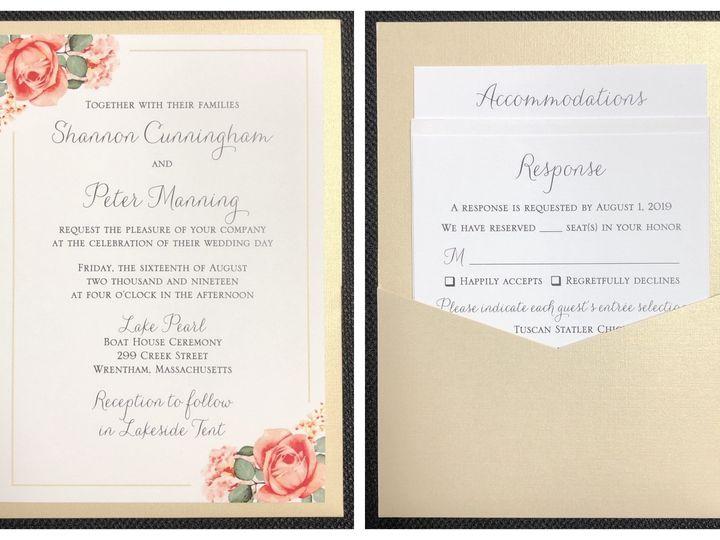 Tmx Cunningham Pocket Card 8 16 19 51 108208 1572547126 Quincy, MA wedding invitation