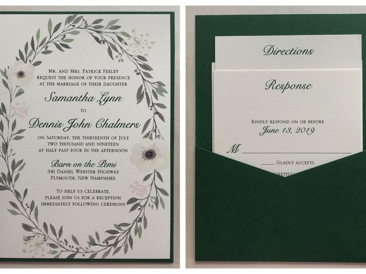 Tmx Feeley Pocket Card 7 13 19 51 108208 1572547126 Quincy, MA wedding invitation