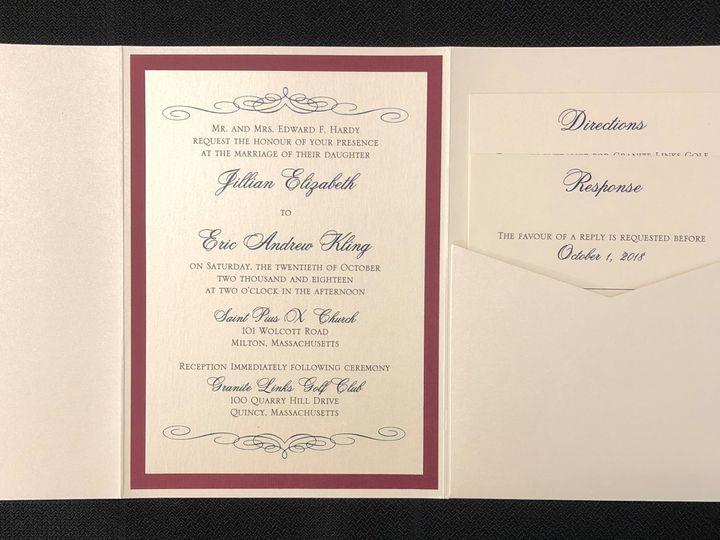 Tmx Hardy Pocket 10 20 18 51 108208 Quincy, MA wedding invitation
