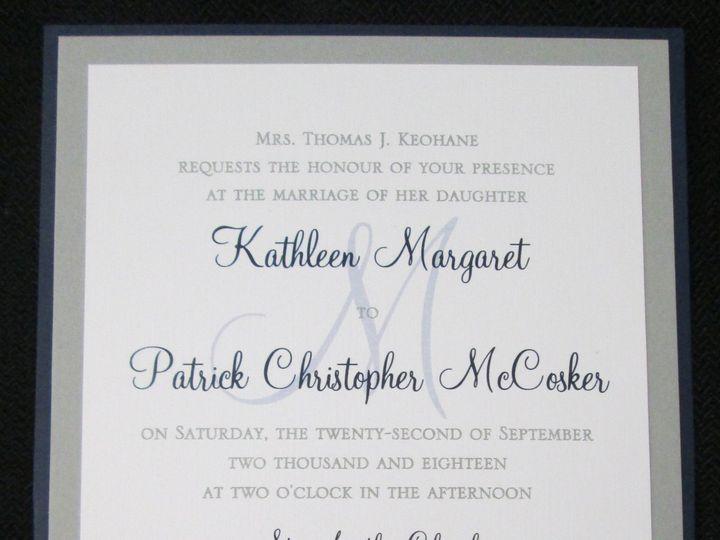 Tmx Keohane Pocket Card 9 22 18 51 108208 Quincy, MA wedding invitation