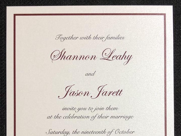 Tmx Leahy Single Layer 10 19 19 51 108208 1572545612 Quincy, MA wedding invitation