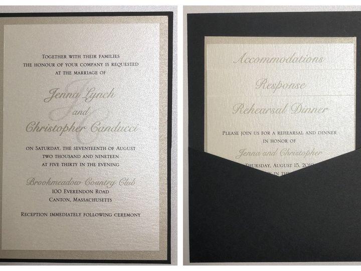 Tmx Lynch Pocket Card 8 17 19 51 108208 1572547129 Quincy, MA wedding invitation