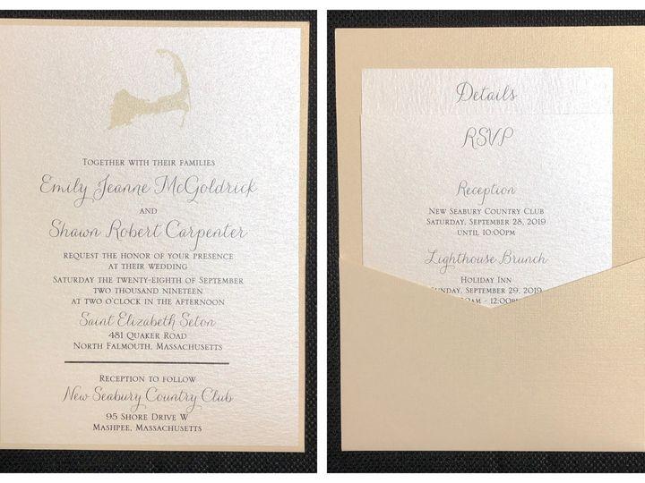 Tmx Mcgoldrick Pocket Card 9 28 19 51 108208 1572547134 Quincy, MA wedding invitation