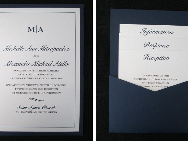 Tmx Mitropoulos Pocket Card 10 20 18 51 108208 Quincy, MA wedding invitation